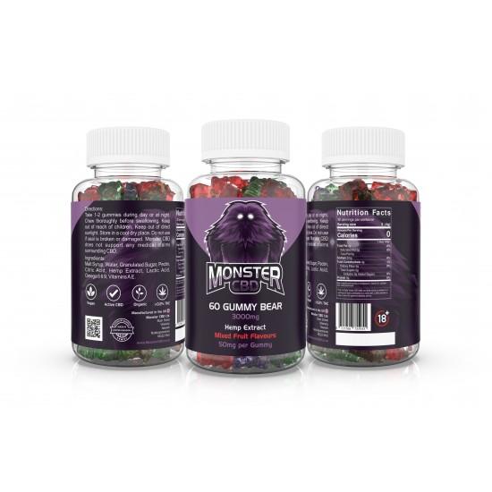 3000mg Hemp Extract Gummy Bears (120g)